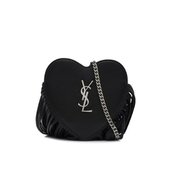 Saint Laurent Small Love Fringed Heart Chain Bag