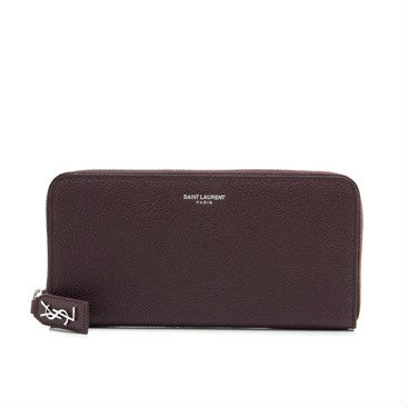 Saint Laurent Classic Paris Zip Around Wallet
