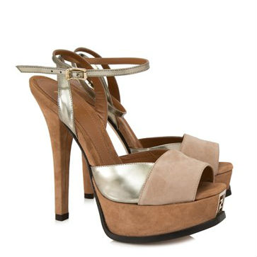 Fendi Peep Toe Sandals