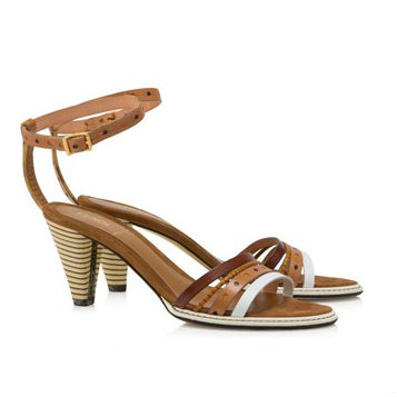 Fendi Mid Heel Sandals