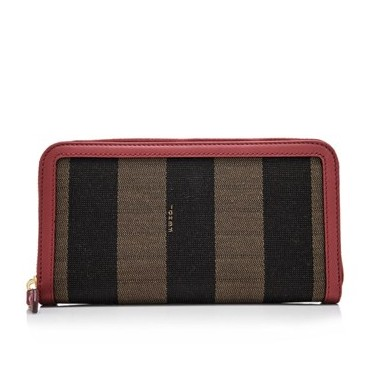 Fendi Pequin Zip Around Wallet