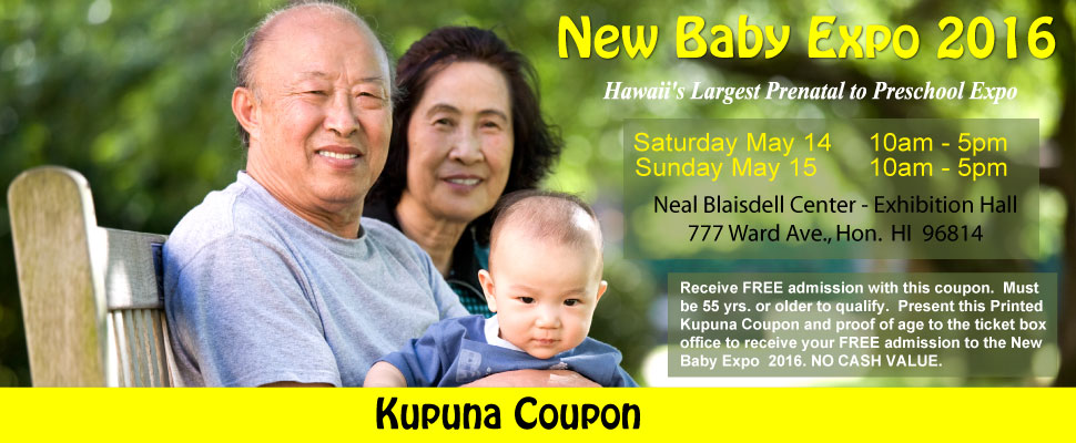 Kupuna Coupon - Oh Baby Family Expo 2015