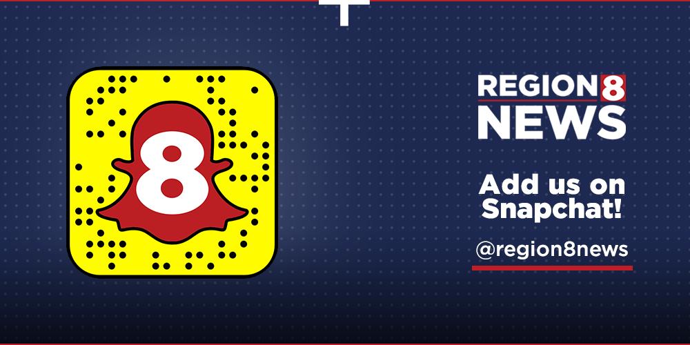Add Region 8 News on Snapchat