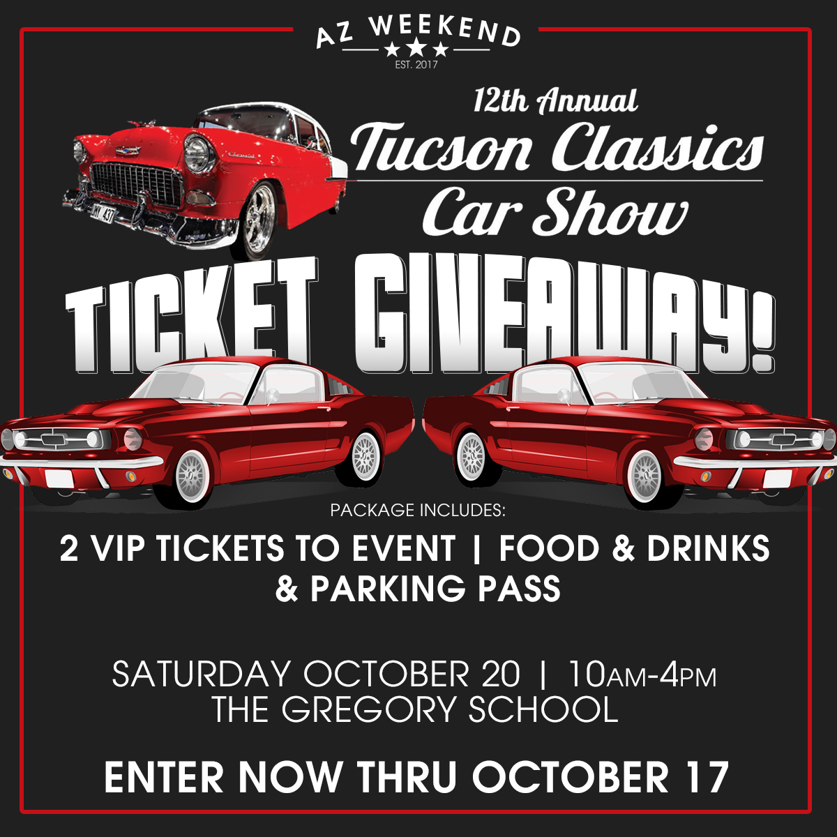 Tucson Classics Car Show VIP Ticket Giveaway AZ Weekend - How much are the tickets for the car show