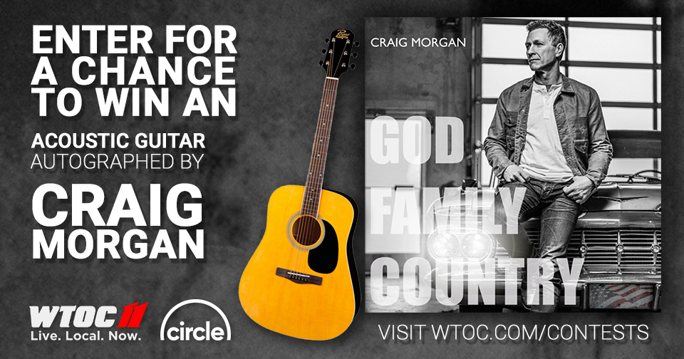 Enter for a chance to win a guitar autographed by Craig Morgan