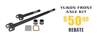 Yukon Front Axle Kits - $50 Rebate