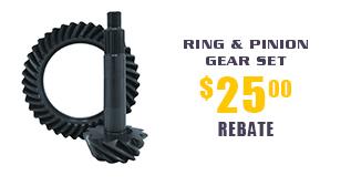Yukon Ring & Pinion Gear Sets - $25 Rebate