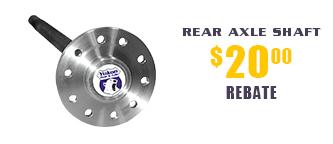 Yukon Rear Axle Shafts - $20 Rebate