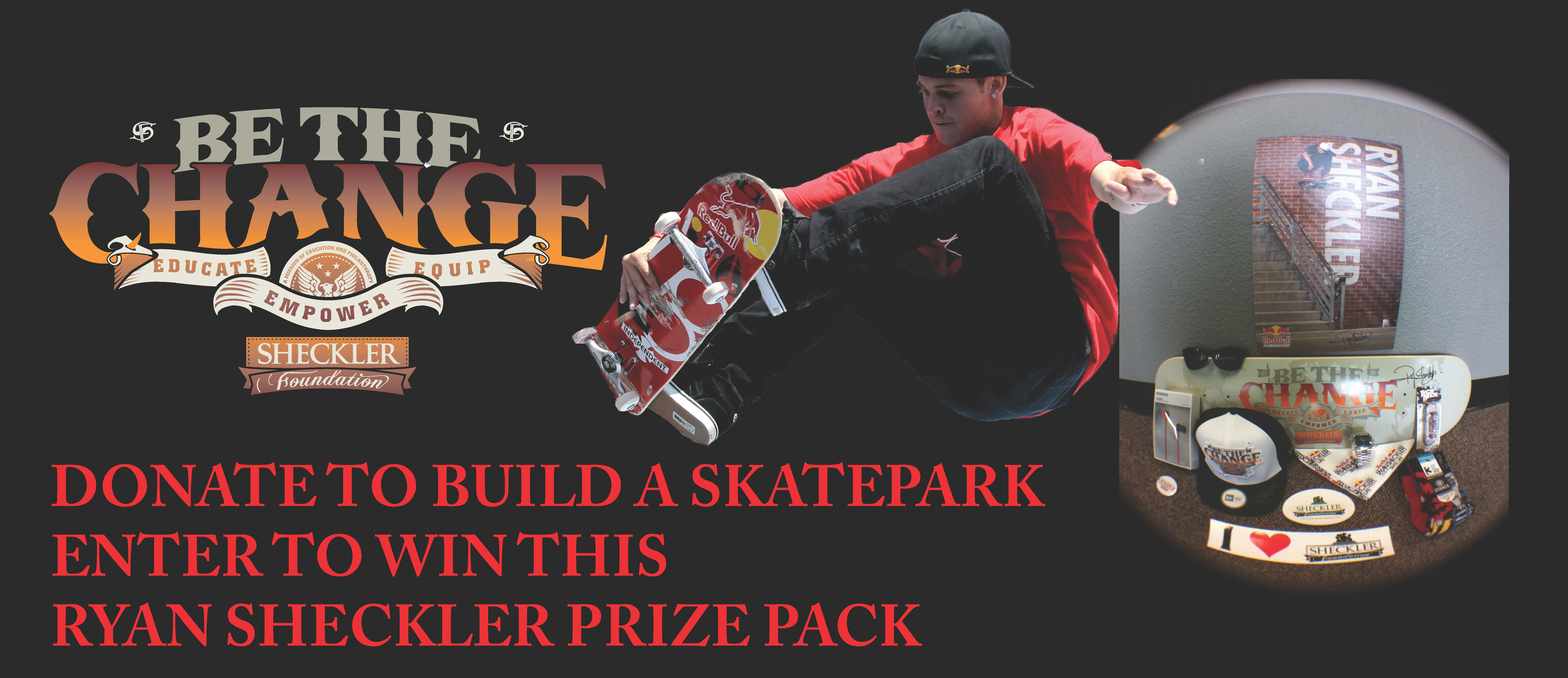 HELP RYAN SHECKLER'S FOUNDATION BUILD A SKATEPARK ON THE PORT GAMBLE SKLALLAM RESERVATION