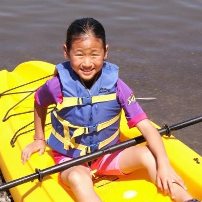 Camper Adventuring by Kayak