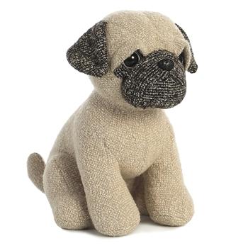 Hugo the Tweed Pug Stuffed Animal by Aurora $13.99