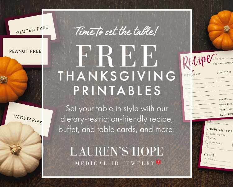 Free Thanksgiving Printables from Lauren's Hope