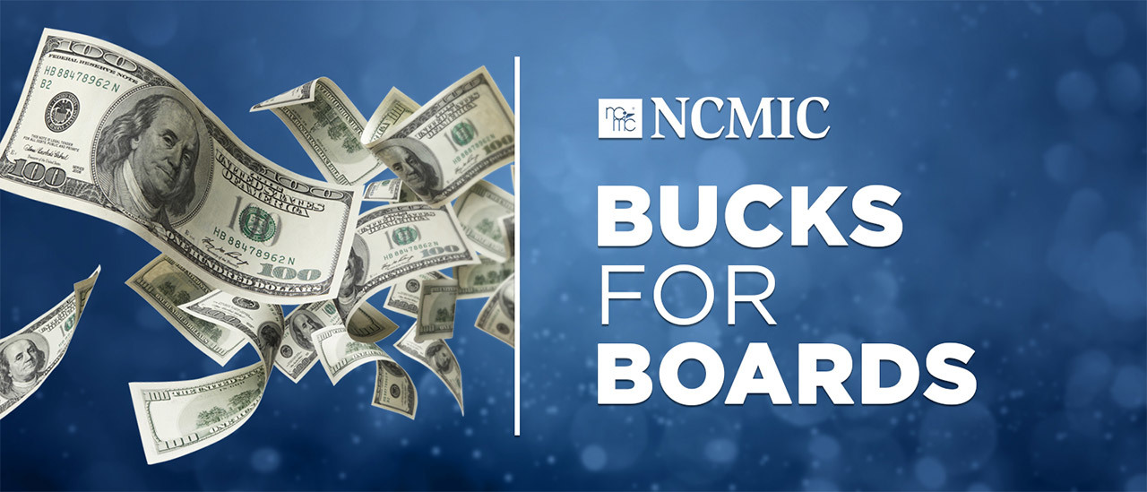 NCMIC Bucks for Boards