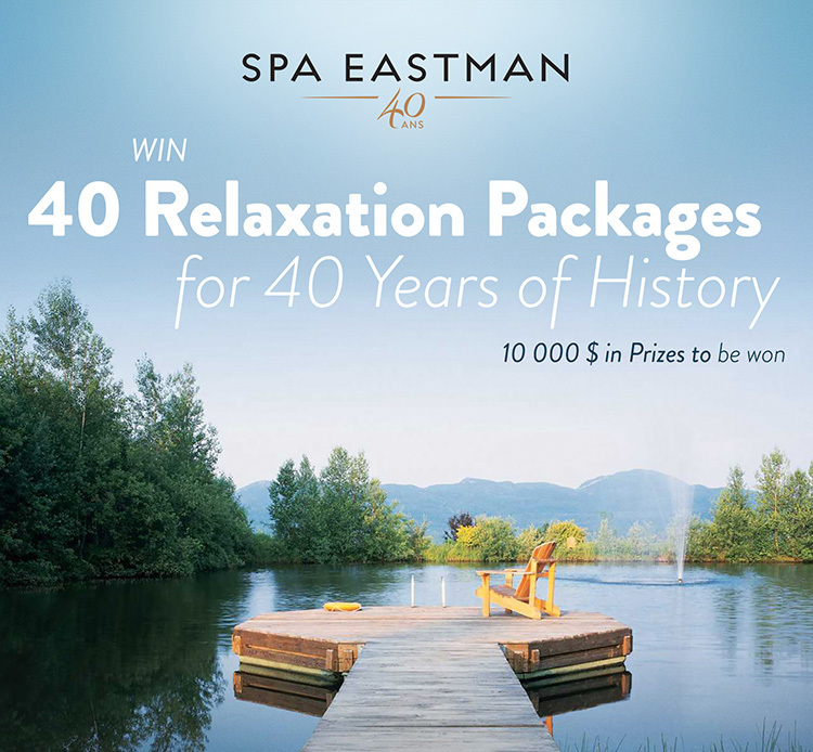 Win 40 Relaxation Packages for 40 Years of History