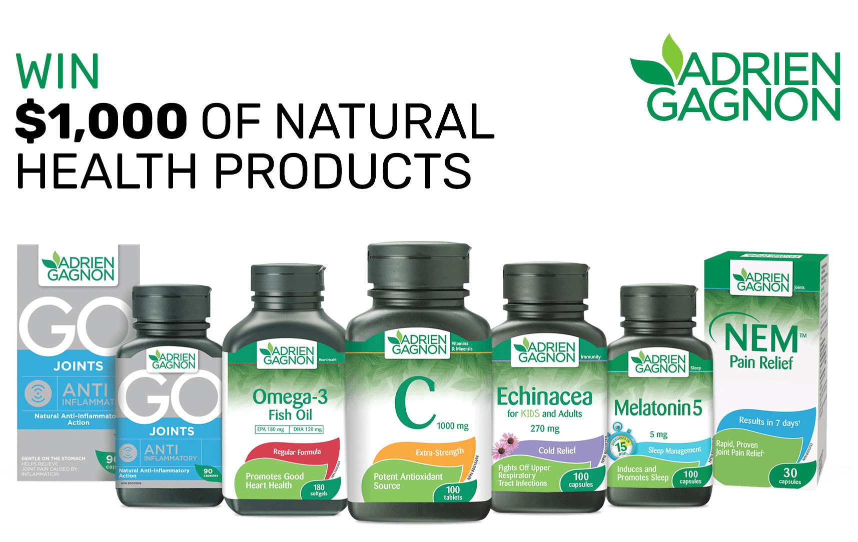 Contest «Win 1 year's worth of natural health products a value of $1,000»