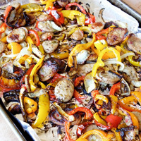 Sheet Pan Chicken Sausage and Peppers