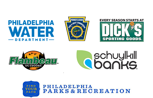 Philadelphia Fun Fishing Fest is made possible by the Philadelphia Water Department, Dicks Sporting Goods, the Pennsylvania Fish and Boat Commission, Flambeau Outdoors, Schuylkill Banks, and the Philadelphia Department of Parks and Recreation.