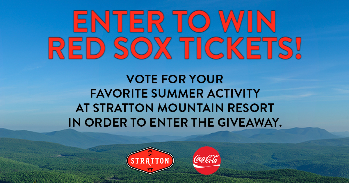 Play ball ⚾ https://t.co/3oMWvUtBrp Stratton Mountain is celebrating the  love of summer in Vermont by giving away two pairs ...