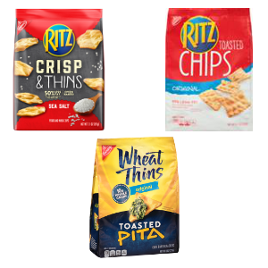 Ritz and Wheat Thins Chips Cartwheel Promotion