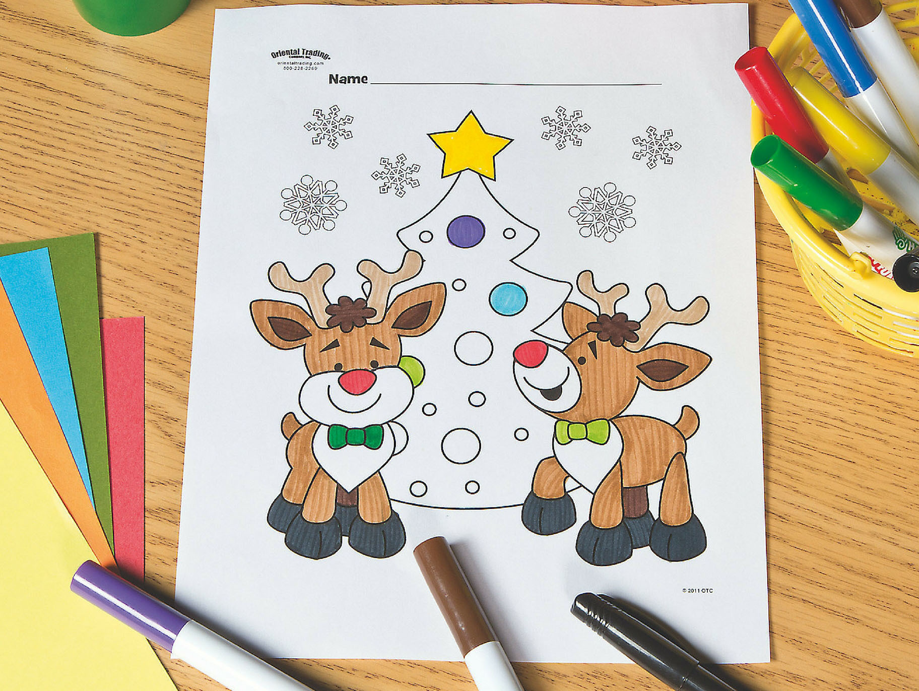 Fill Out The Form Below To Get This Free Printable Reindeer With