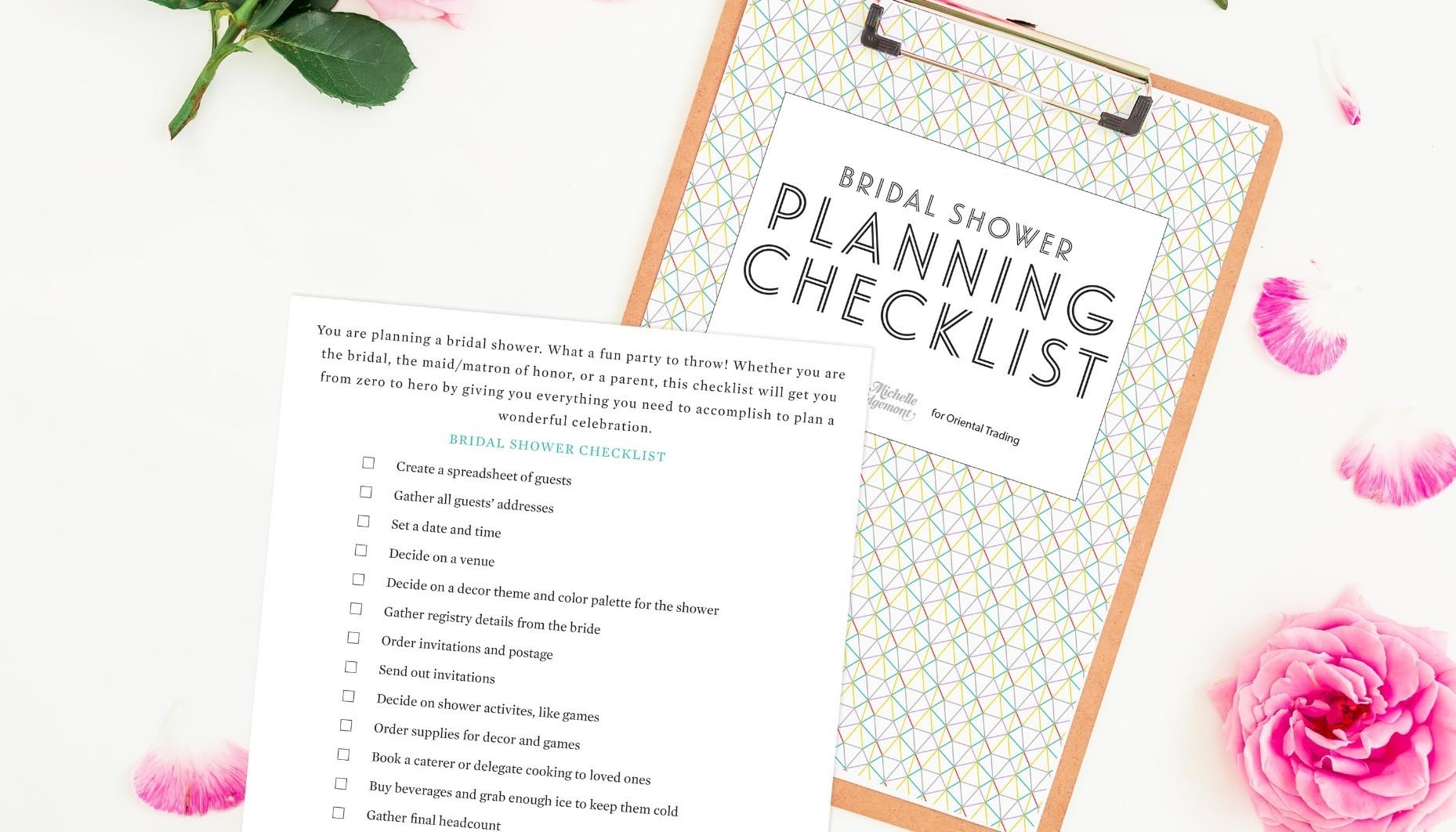 photo regarding Bridal Shower Checklist Printable identify Fill out the variety here in direction of attain this Absolutely free Bridal Shower Creating