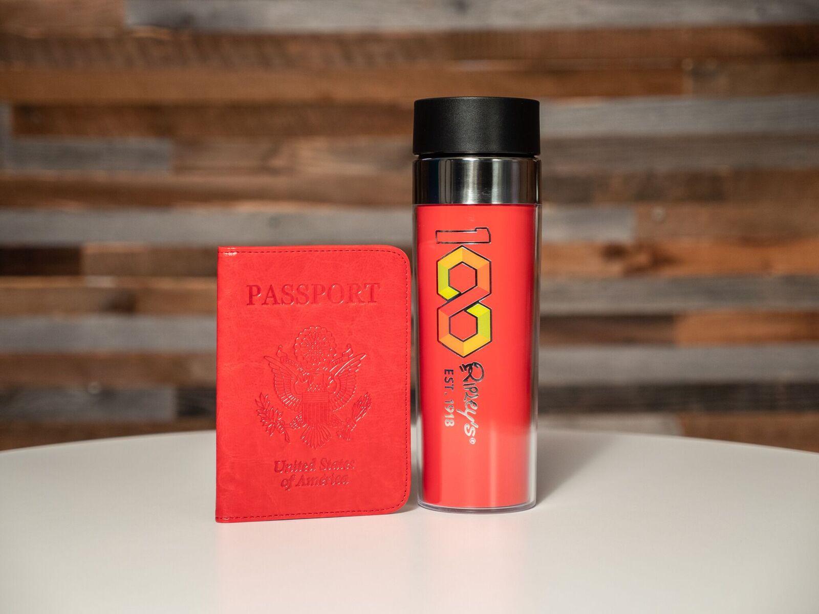 100 Year Travel Cup & Passport Holder