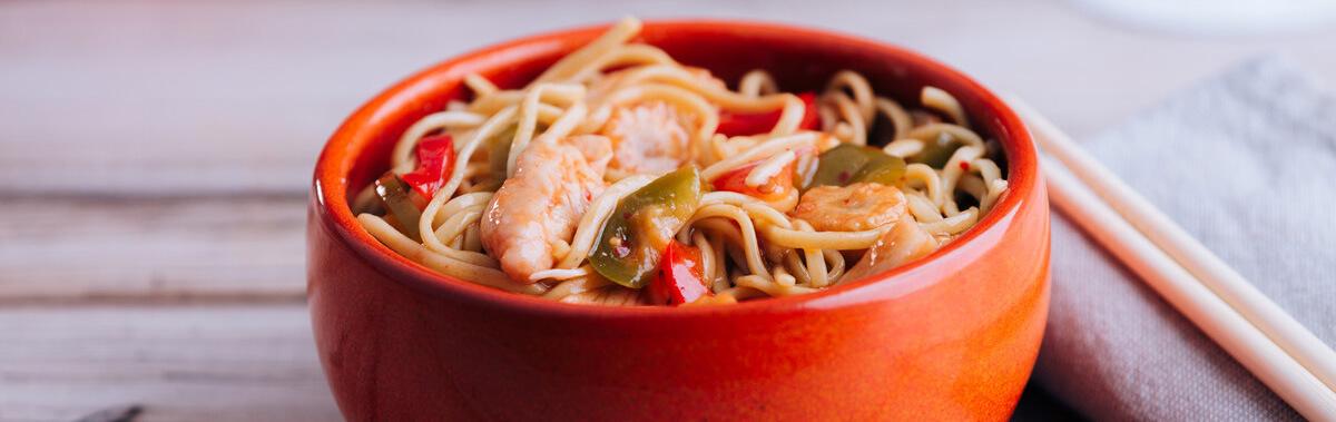 Leckerer Teller mit Chow Mein