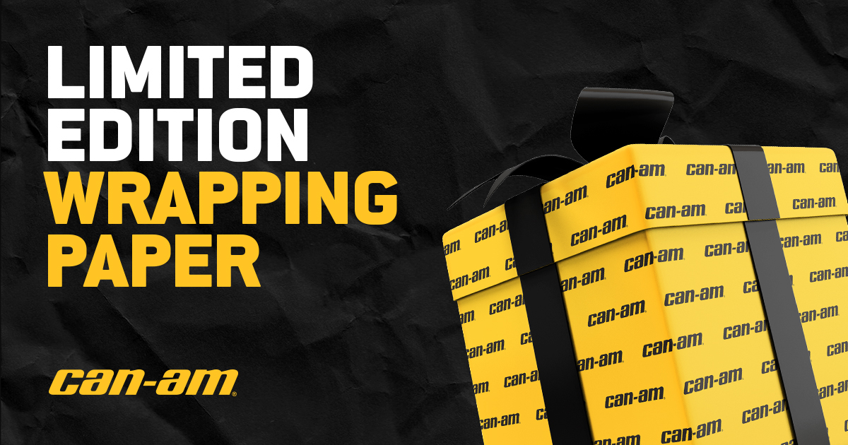 Can-Am Wrapping Paper Giveaway