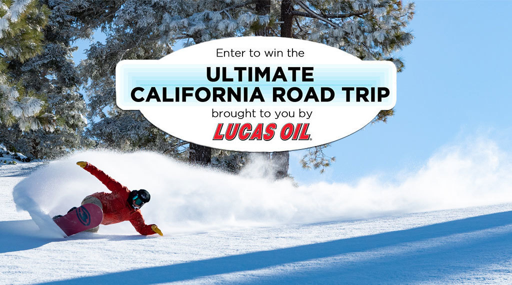 Enter to win the Ultimate California Road Trip brought to you by Lucas Oil