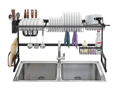 Dish Drying Rack Over Sink Stainless Steel Drainer Shelf