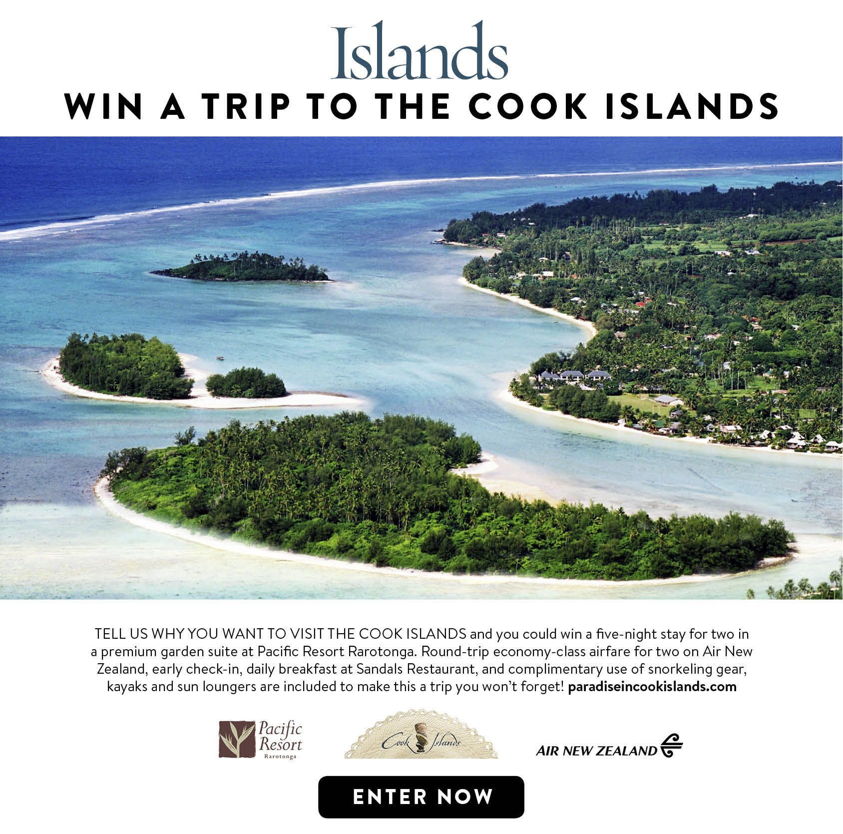 Win a Trip to the Cook Islands