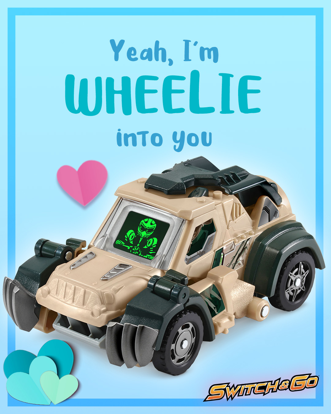 Switch & Go Dino Valentines