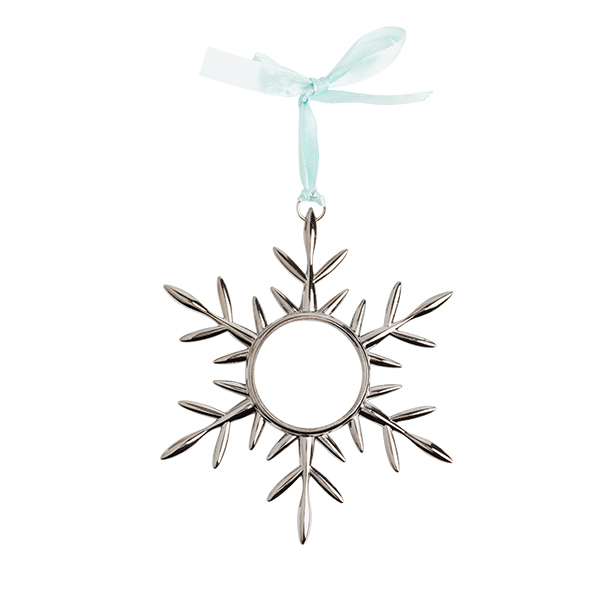SILVER SNOWFLAKE ORNAMENT LIVING LOCKET HOLDER