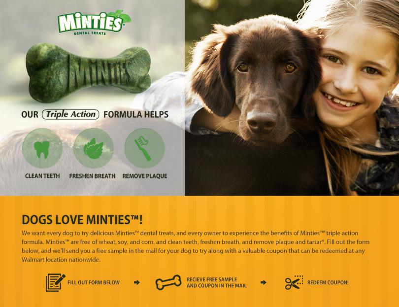Minties Dog Treats Free Sample