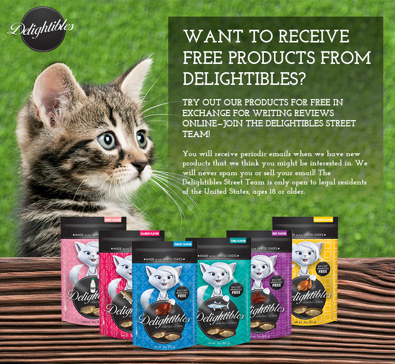 FREE Delightibles Cat Treats..