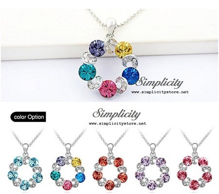 Enchanting Crystal Ferris Wheel Pendant at S$12.80 each (UP S$48.80)