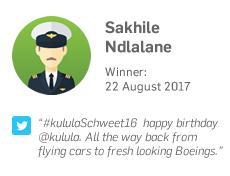 Winner 22 August: Sakhile Ndlalane