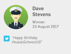 Winner 23 August: Dave Stevens