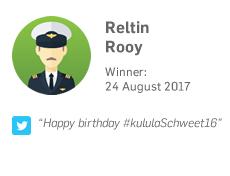 Winner 24 August: Reltin Rooy