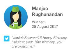 Winner 28 August: Manjoo Rughunandan