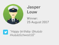 Winner 25 August: Jasper Louw